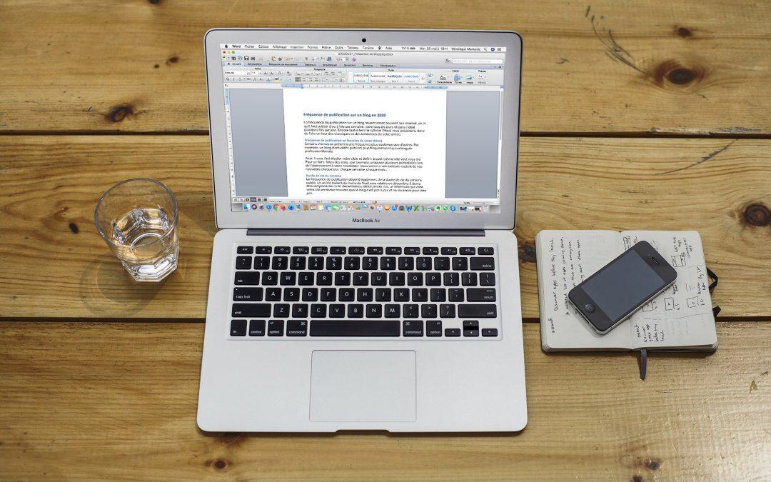 Fréquence de publication sur un blog en 2020